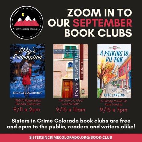 September SinC Book Clubs IG